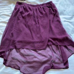 Garage high low skirt